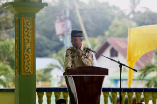 Hadiri Isra' Miraj di Desa Tanjung Bakau, Wabup : Kita Sekarang Gunakan Program 'money follow progr